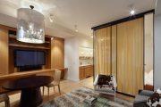 Фото 2 Дизайн спальни-гостиной площадью 18 кв. м: продуманные идеи для комфорта и экономии пространства