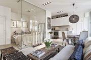 Фото 27 Дизайн спальни-гостиной площадью 18 кв. м: продуманные идеи для комфорта и экономии пространства