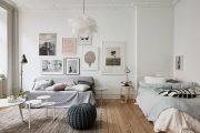 Фото 1 Дизайн спальни-гостиной площадью 18 кв. м: продуманные идеи для комфорта и экономии пространства