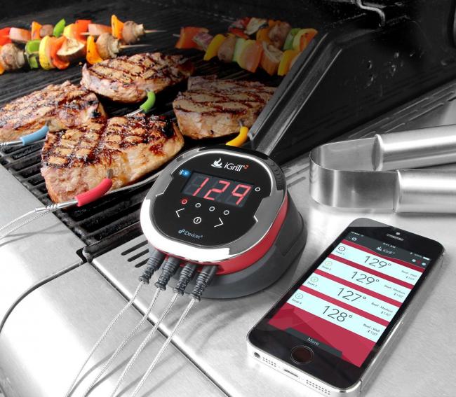 """""""Умный термометр"""", который соединяется с вашим телефоном через Bluetooth и сообщает о готовности мяса"""