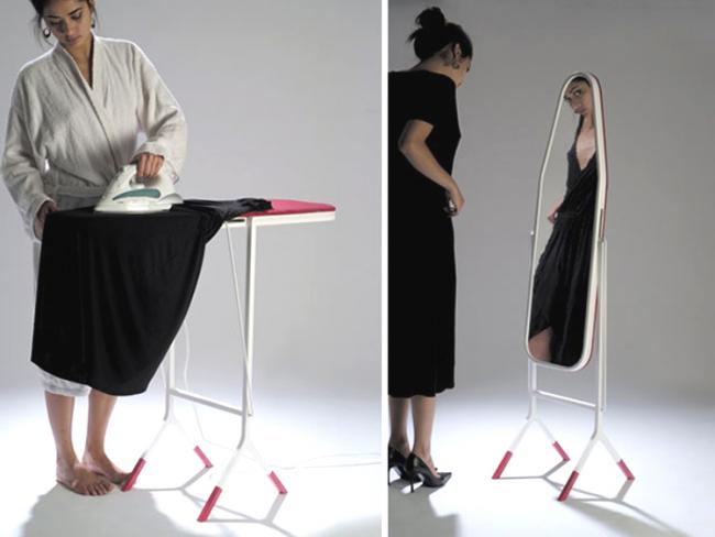 Гладильная доска с зеркалом - очень удачное решение для экономии пространства