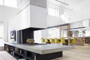 Фото 37 Камин в интерьере квартиры: 85+ роскошных вариантов в современном и классическом дизайне