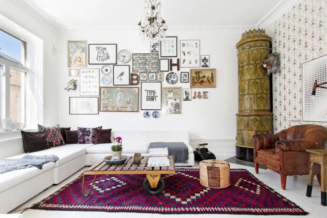 камин в квартире: интерьер может быть абсолютно любым, все зависит лишь от фантазии и финансовых возможностей