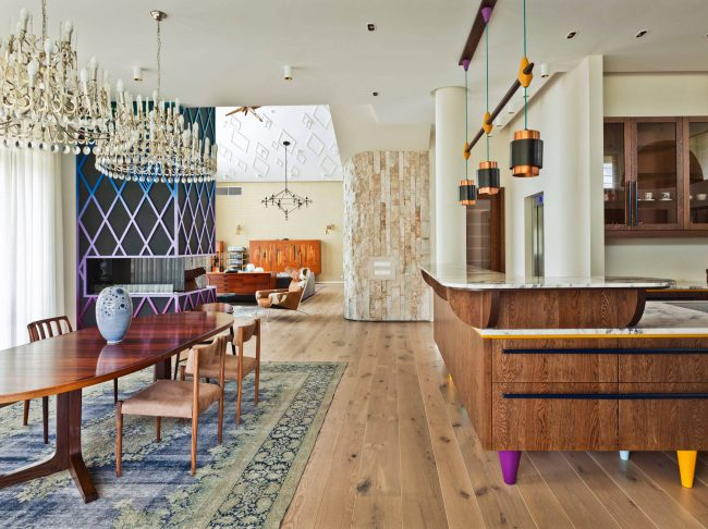 Интерьер квартиры-студии в стиле эклектика