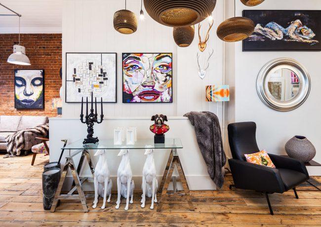 Стиль эклектика в дизайне квартиры-студии