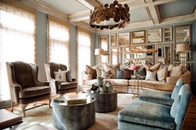 Великолепный дизайн гостиной в классическом стиле