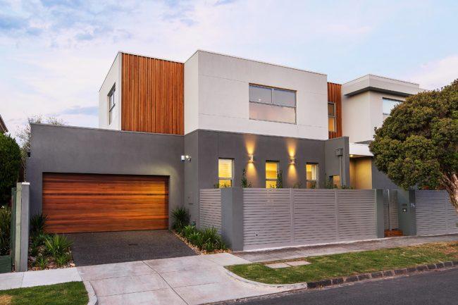 Стильный современный дом с двойным гаражом