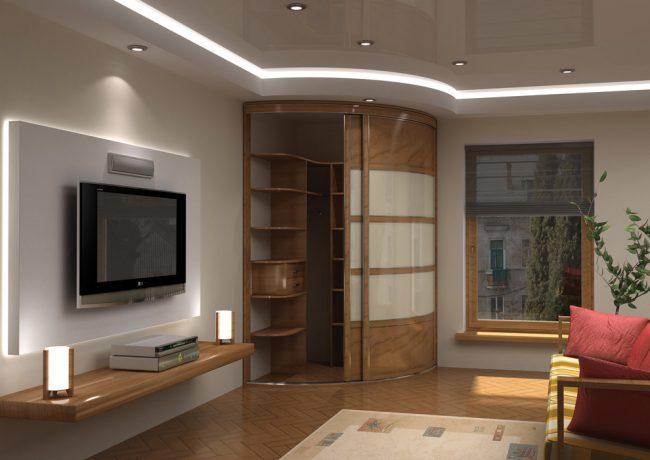 Радиусные шкафы-купе - это современное направление в создании корпусной мебели