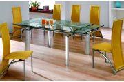 Фото 7 Стеклянный раздвижной стол для кухни: выбираем оптимальный вариант для интерьера