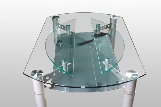 Удобный механизм круглого стола-трансформера