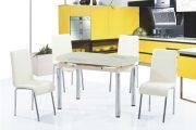 Фото 10 Стеклянный раздвижной стол для кухни: выбираем оптимальный вариант для интерьера