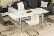 Фото 11 Стеклянный раздвижной стол для кухни: выбираем оптимальный вариант для интерьера