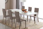 Фото 16 Стеклянный раздвижной стол для кухни: выбираем оптимальный вариант для интерьера