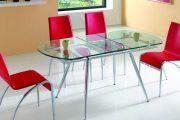 Фото 18 Стеклянный раздвижной стол для кухни: выбираем оптимальный вариант для интерьера
