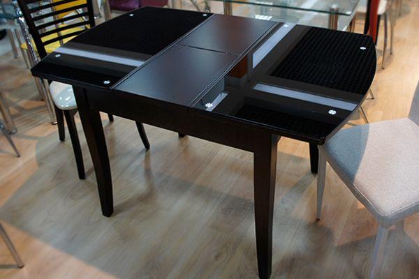 Стол кухонный стеклянный раздвижной: черный стеклянный стул для небольшой кухни