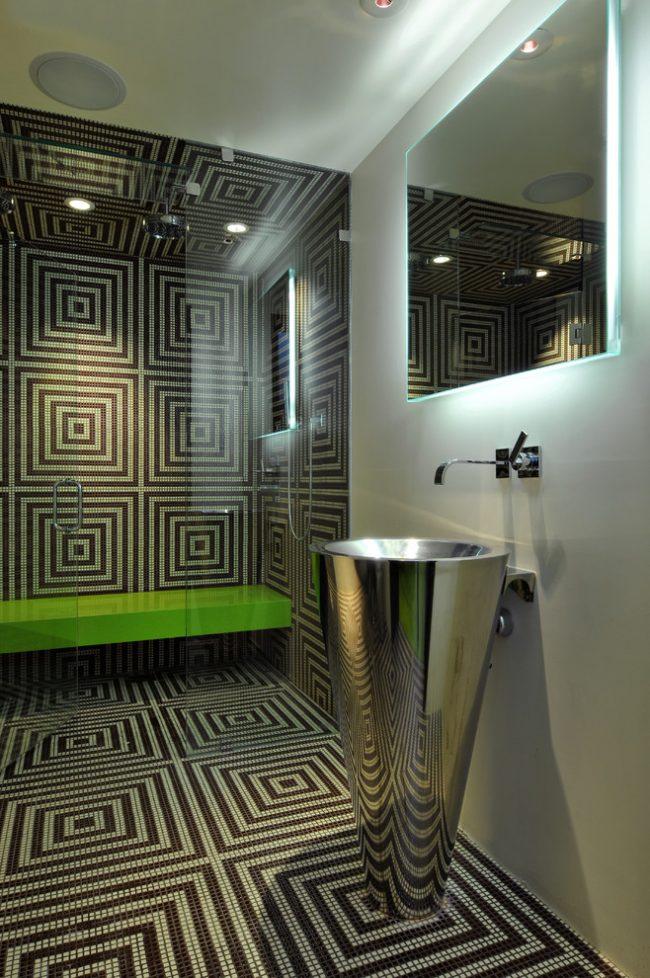Мозаика в интерьере ванной комнаты придаст вашему интерьеру индивидуальности
