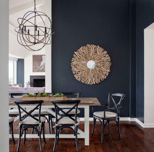 Венский стул деревянный: стильный интерьер столовой с красивыми венскими стульями черного цвета