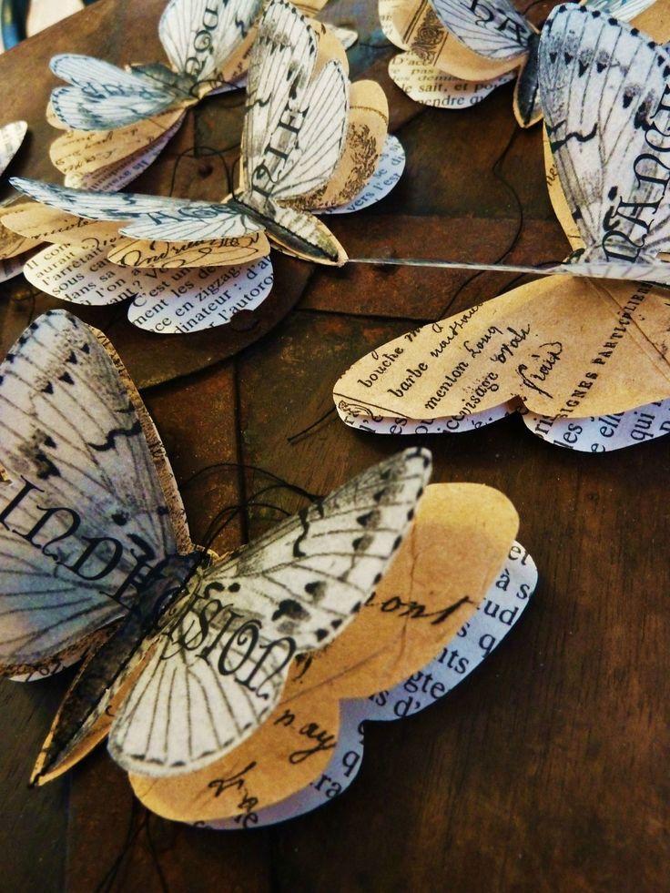 Бабочка своими руками из газеты