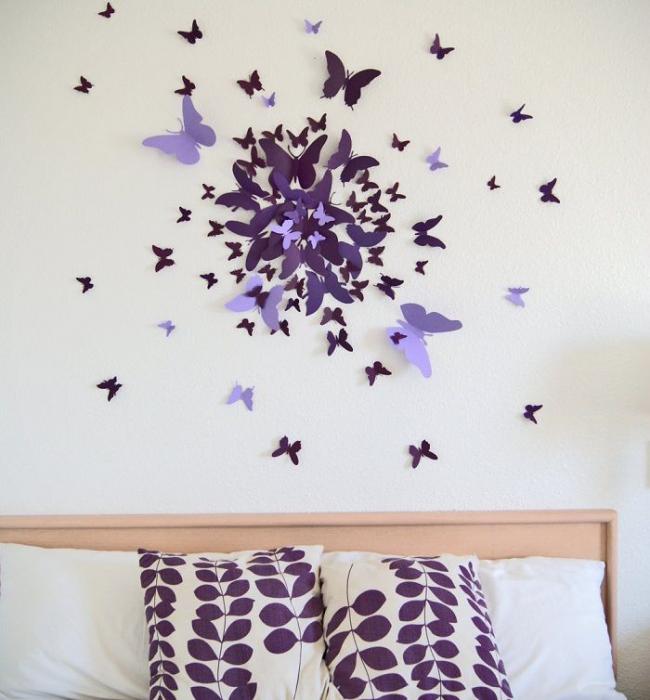 Красивые бабочки из плотной цветной бумаги