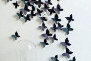 Фото 24 Бабочки на стене: 70 вдохновляющих фотоидей и мастер-класс по декору своими руками