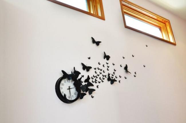 Декор настенных часов своими руками