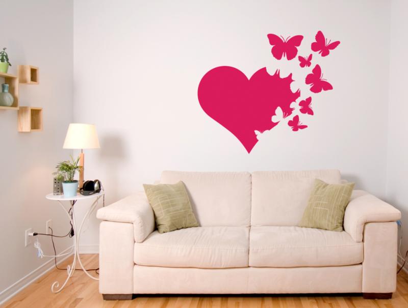 Декоративные рисунки на стенах своими руками 9
