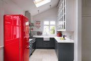 Фото 2 Цветные холодильники: яркие акценты против серой обыденности на кухне
