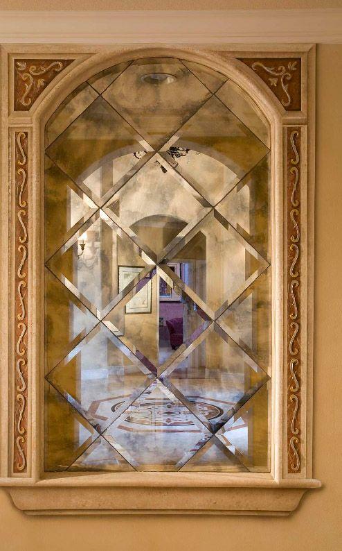 Фацетное зеркало в восточном интерьере