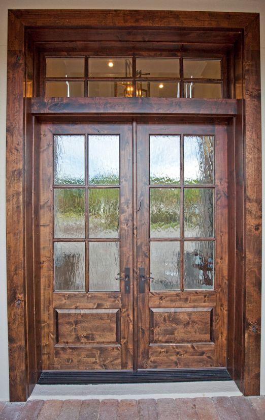 Штучно состаренная древесина со вставками из рифленного стекла