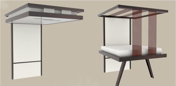 Пример работы механизма кровати под потолком