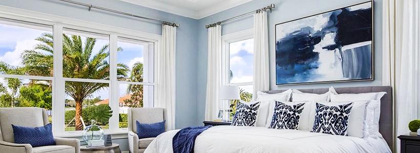 Картины в спальню над кроватью: размещение по фен-шуй и 70+ универсальных сюжетов