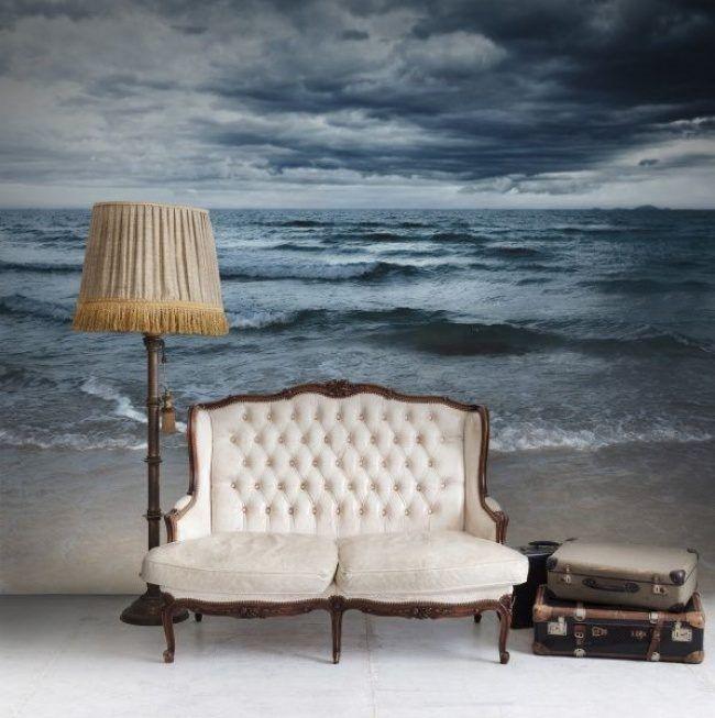 Фотопанно на всю стену с изображением морского пейзажа