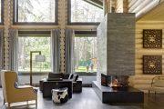Фото 1 Отделка стен деревом: 80 потрясающих интерьеров, которые изменят ваше отношение к экостилю и шале