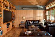 Фото 20 Отделка стен деревом: 80 потрясающих интерьеров, которые изменят ваше отношение к экостилю и шале