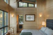 Фото 25 Отделка стен деревом: 80 потрясающих интерьеров, которые изменят ваше отношение к экостилю и шале