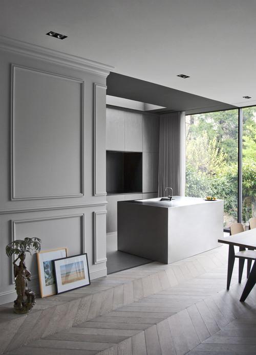 Безупречный вид стеновых панелей в интерьере в стиле минимализм