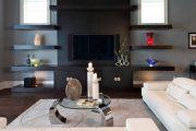 Фото 7 Полка для телевизора на стену: как сделать правильный выбор и 70 современных реализаций