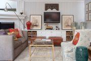 Фото 13 Полка для телевизора на стену: как сделать правильный выбор и 70 современных реализаций