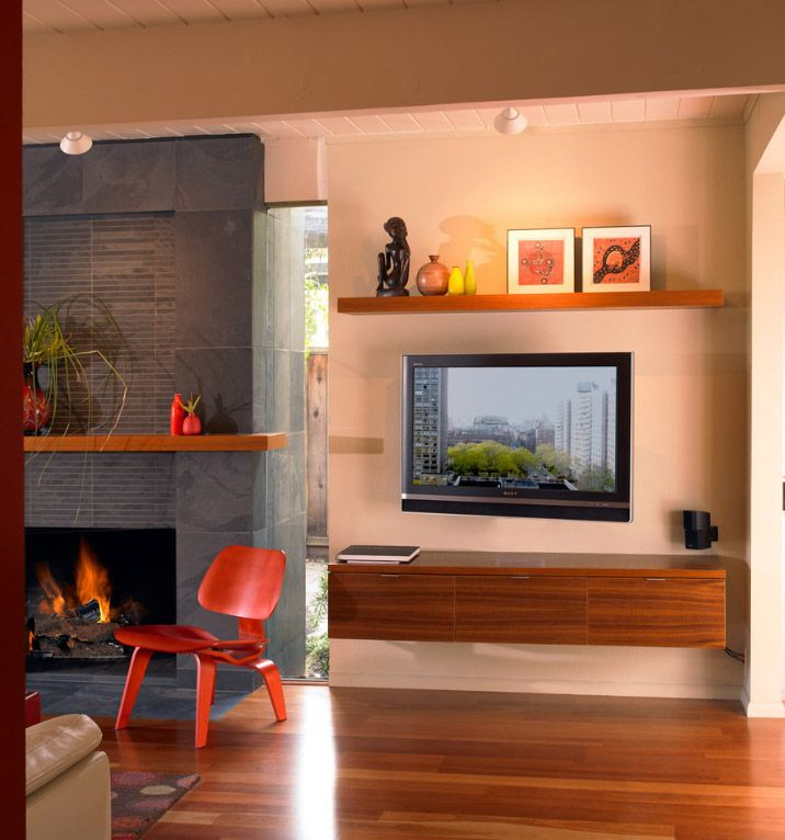 Полки на стену с телевизором дизайн