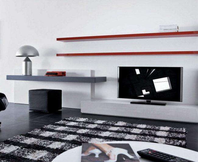 Полка для телевизора в стиле минимализм