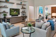 Фото 2 Полка для телевизора на стену: как сделать правильный выбор и 70 современных реализаций