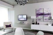 Фото 22 Полка для телевизора на стену: как сделать правильный выбор и 70 современных реализаций