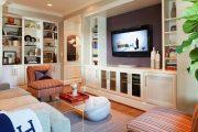Фото 24 Полка для телевизора на стену: как сделать правильный выбор и 70 современных реализаций