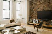 Фото 26 Полка для телевизора на стену: как сделать правильный выбор и 70 современных реализаций
