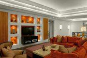 Фото 32 Полка для телевизора на стену: как сделать правильный выбор и 70 современных реализаций