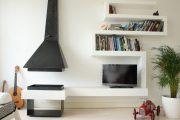Фото 33 Полка для телевизора на стену: как сделать правильный выбор и 70 современных реализаций