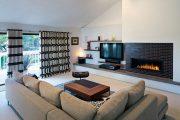 Фото 36 Полка для телевизора на стену: как сделать правильный выбор и 70 современных реализаций