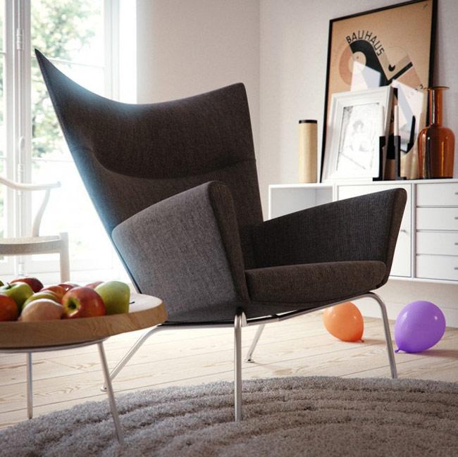 Благодаря мягкой широкой спинке с наклоном - полукресло более удобно, нежели стул