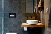 Фото 6 Синяя ванная комната: 75 элегантных интерьеров в холодных тонах