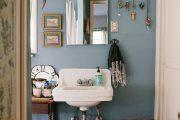 Фото 7 Синяя ванная комната: 75 элегантных интерьеров в холодных тонах
